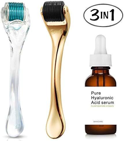 Amazing2015 Hyaluronic Acid plus derma roller skin care tools 0.25(3in1)