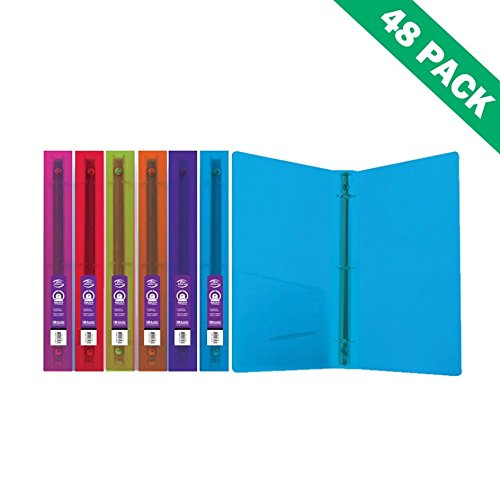 3-ring Binders, Poly Glitter School File 1 Inch Binders With Pocket (case Of 48) by BAZIC-PRODUCTS