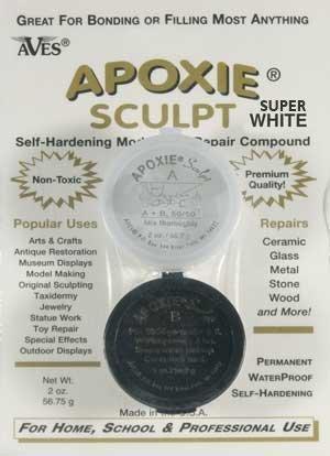 (Apoxie Sculpt 1/4 lb. Super White, 2 Part Modeling Compound (A & B))
