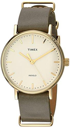 timex-unisex-tw2p98500-fairfield-37-olive-leather-slip-thru-strap-watch