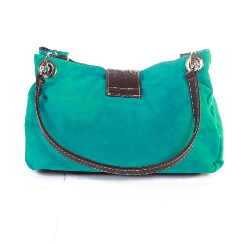 Available Bag in colours Italian Purse Style aqua Suede green Shoulder many Handbag Designer 4OqTH6