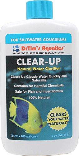 DrTim's Aquatics Clear Up Natural Water Clarifier, Saltwater 8 oz