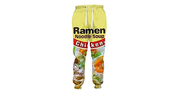 Pantalones Casuales Pollo Joggers Ramen Impreso en 3D ...