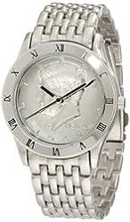 August Steiner Men's CN004S-AS Round Kennedy Half Dollar Silver-tone Bracelet Watch