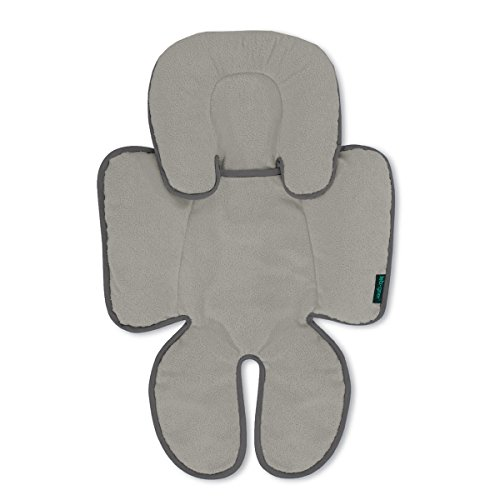 Lebogner Head And Body Support Pillow, Infant To Toddler Head, Neck, And Body Cushion Perfect For Car Seats And Strollers, Detachable Head For Versatility As The Baby Grows, Grey (Infant Pillow Support Body)