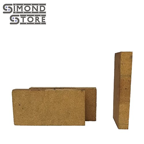 40% Alumina Refractory Fire Brick Kit 2498°F of 3 replacements for stoves, fire pits and pizza ovens 9'' x 4.5'' x 2.5''