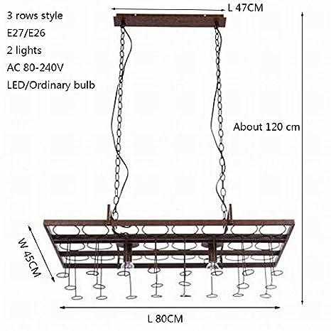 Loft retro Colgante Botella de Vino techo de hierro lámparas ...