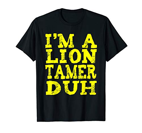 EASY LION TAMER HALLOWEEN COSTUME TSHIRT - Lazy Last -
