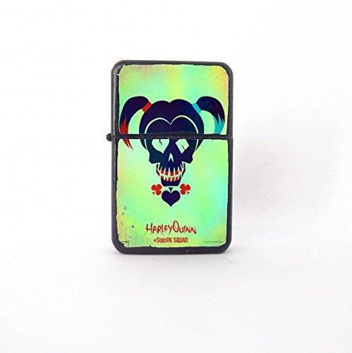 Suicide Squad lighter, movie poster, Harley Quinn lighter, Harley Quinn fan art, custom lighter, gift for him, groomsman gift, pop art green