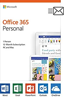 Microsoft Office 365 Personal 1 Year | PC or Mac Key Card (Packaging May Vary) (B00HV9IM58) | Amazon price tracker / tracking, Amazon price history charts, Amazon price watches, Amazon price drop alerts