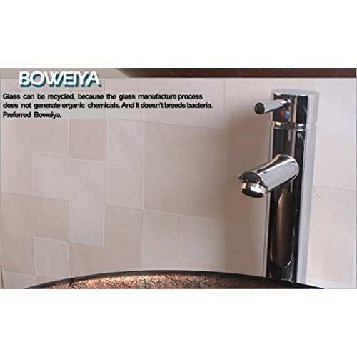Fx@ Vintage Bronze Round Toughened Glass Art Basin / Contemporary Bathroom Tempered Glass Glass Sink Set (19mm ¦µ460 H130 mm) hot sale 2017