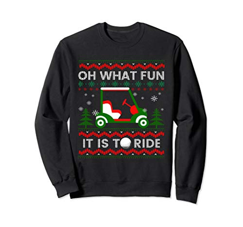 Oh What Fun - Ugly Christmas Golf T shirt Funny Xmas -