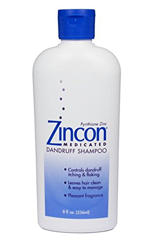 Zincon Medicated Dandruff Shampoo, 8 fl oz (Pack of -