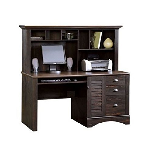 Sauder Harbor View Computer Desk with Hutch, Antiqued Paint finish (36 Inch Wide Computer Desk With Hutch)