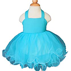 Jenniferwu Infant Toddler Baby Newborn Little Girl's Pageant Party Birthday Dress G128-5 Aqua Size 12-18M