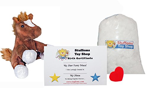 Make Your Own Stuffed Animal Mini 8 Inch Chestnut the Horse Kit - No Sewing Required!