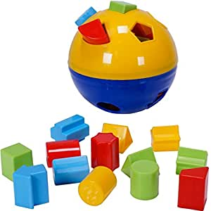 CifToys Educational Shape Sorter Ball Kids Toys   Develop Fine Motor Skills, Have Fun, Learn About Shapes & Colors (Blue-Yellow)