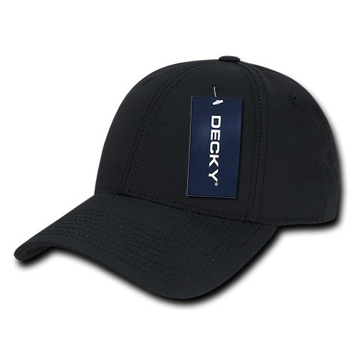 DECKY Low Crown Structured Rip Stop Cap, Black