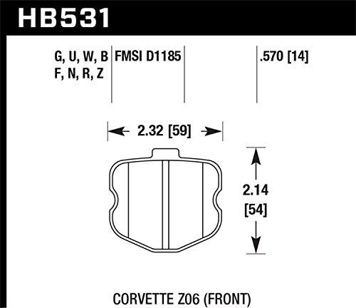 Hawk Performance HB531Z.570 Performance Ceramic Brake Pad by Hawk (Image #3)