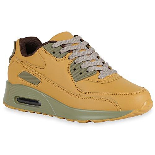 Bottes Paradis Unisexe Hommes Chaussures De Sport Course Sur La Taille Flandell Brun Clair Vert Fonc