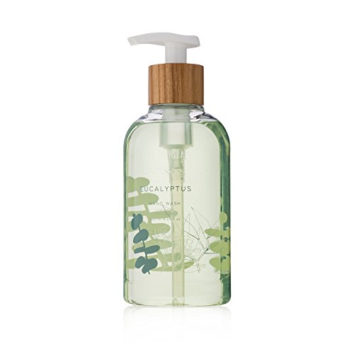 Thymes - Eucalyptus Hand Wash with Pump - Hydrating Liquid Hand Soap with Soothing Aloe Vera - 8.25 oz - Frasier Fir Hand Lotion