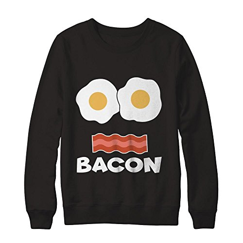 Teely Shop Women's Costume Couples Eggs Bacon Funny Gildan - Pullover (Eggs Couples Costumes)