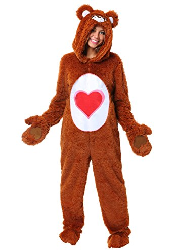 Care Bears Costumes For Adults (Care Bears Adult Classic Tenderheart Bear Costume X-Large)