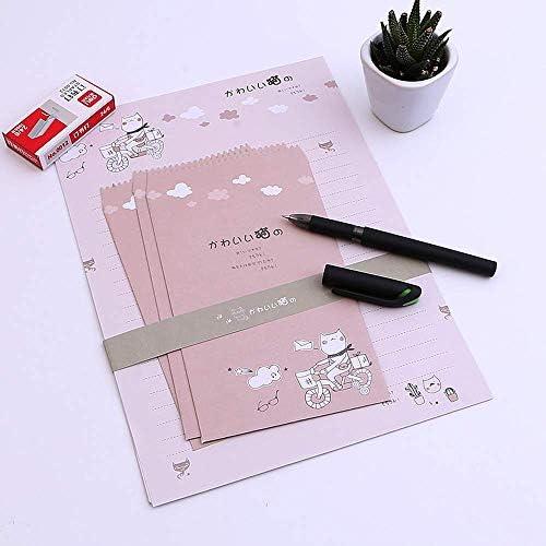 SY-shop Briefpapier-Umschlag-Mode-Briefpapier-Retro- kreativer Netter Karten-Kommunikations-Papier-Buchstabe-Satz