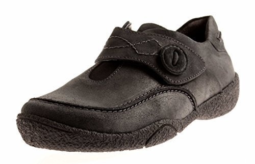 Theresia M.Leather Walking Shoes Women's Shoes Leather 66748 Anthracite TGG9HXJ2t