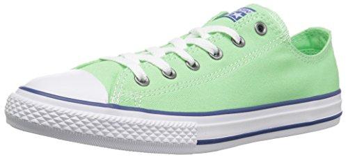 Converse Kids' Chuck Taylor All Star Seasonal Canvas Low Top Sneaker, Illusion Green/Nightfall Blue, 2 M US Little Kid