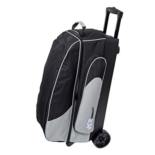 KR Select Triple Roller Bowling Bag- Silver/Black
