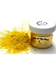 Magic Yellow Mica Powder 1oz, Metallic Yellow Pearl Powder, Cosmetic mica, Slice of the Moon