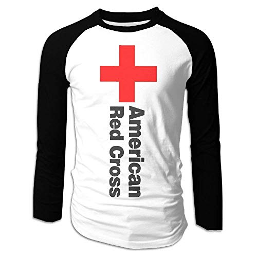 Cozy-T Attractive American Red Cross Blood Drive Casual Mens Long Sleeve T Shirts