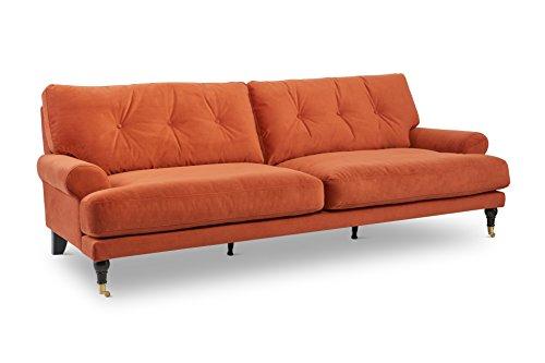 Stitch & Time 1702 Fabric Sofa, Persimmon