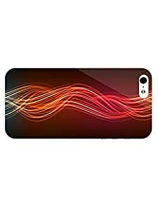Free Shipping iPhone 5/5s Case Abstract - Multicolored Neon Waves with Full Wrap
