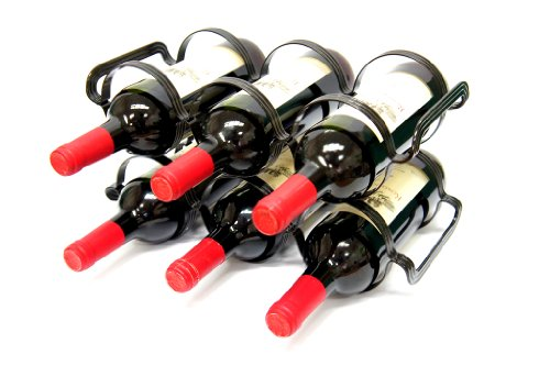 6 bottle wine rack black - 3