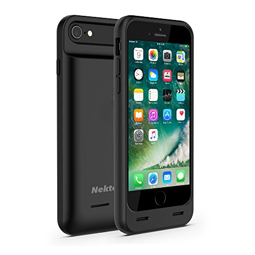 Nekteck iPhone 7 / 8 Battery Case, [Apple certified Connector] 3100mAh iPhone 8 battery Case External Protective Charger Charging Case Backup Pack Cover Juice Bank For iPhone 7 and 8 - Black