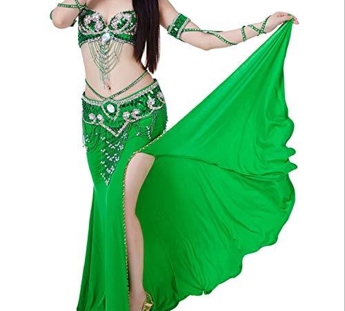 Belly Dance Skirt Dancing Costume Indian Dance Skirt Clothes Bellydance Skirt,Green,One Size]()