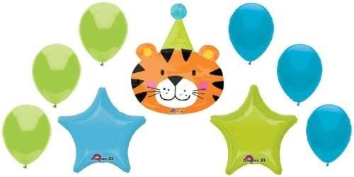 LoonBalloon DANIEL TIGER Stripes Hat Jungle ZOO Safari 9 Pc Party Mylar & Latex BALLOONS Set