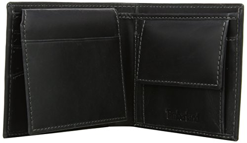 Coin Passcase Purse Black Timberland Men's With Pocket w5qxt1H