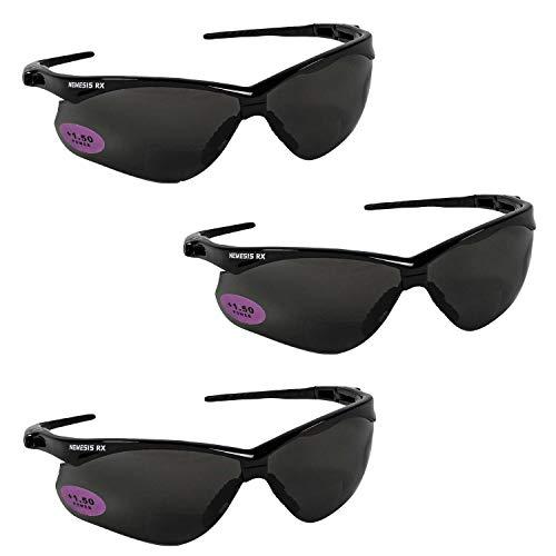Jackson Safety V60 Nemesis RX Safety Eyewear 22518, Smoke +2.0 Lens Bifocal (3 -