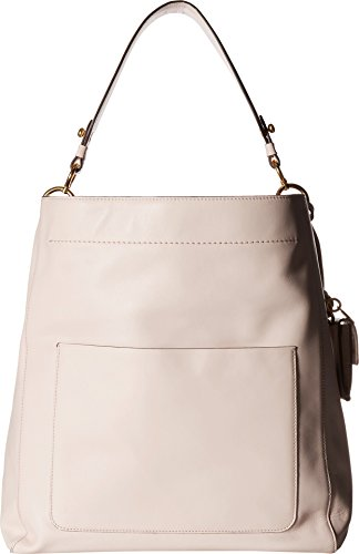 - Cole Haan Zoe Bucket Hobo Leather Shoulder Bag, Peach Blush
