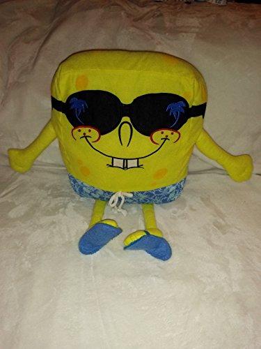 Beach Spongebob Squarepants In Sunglasses And Sandals Plush 16.5'' Inches by - Sunglasses Spongebob Squarepants