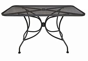 "Oak Street Manufacturing OD3048 Rectangular Black Mesh Top Outdoor Table, 48"" Length x 30"" Width from Oak Street Manufacturing"