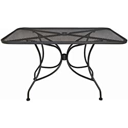 "Oak Street Manufacturing OD3048 Rectangular Black Mesh Top Outdoor Table, 48"" Length x 30"" Width"