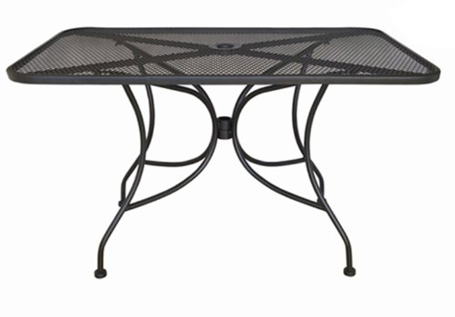 "Oak Street Manufacturing OD3048 Rectangular Black Mesh Top Outdoor Table, 48"" Length x 30"" Width"