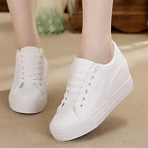 e57cd178c8fc4 Buganda Women Fashion Leather Sneakers Casual Lace up White Black ...