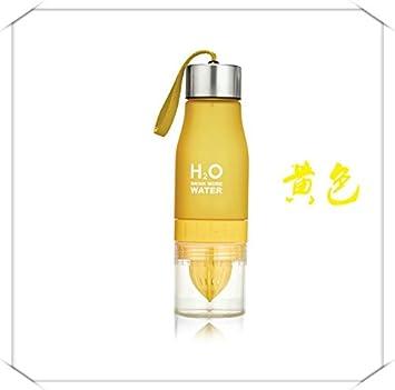daorier infusor de limón exprimidor botella de agua para deportes al aire libre Camping senderismo amarillo: Amazon.es: Hogar
