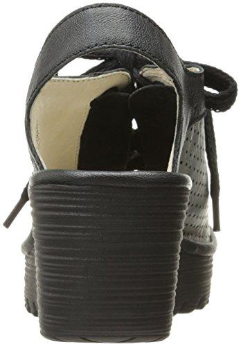FLY London Women's Yuta617fly Platform Sandal, Black/Lead Mousse/Borgogna, 40 EU/9-9.5 M US by FLY London (Image #2)