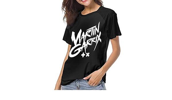 DaihAnle Martin Garrix Womens Individuality Fashion Baseball Short Sleeve Round Neck Print T-Shirt